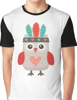 Hipster Owlet Mint v2 Graphic T-Shirt