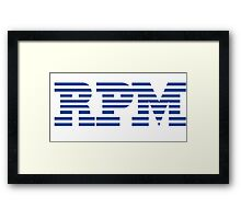 RPM - Revs Per Minute Framed Print