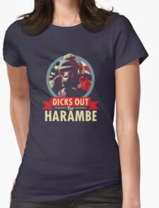 Hail to the Chimp (Dicks out for Harambe) Womens Fitted T-Shirt