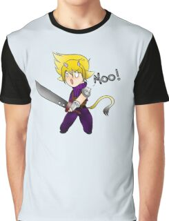 Cloud Strife the Cow Graphic T-Shirt