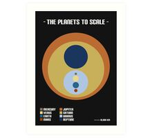 The Planets to Scale Art Print