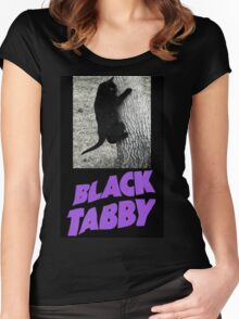 Black Tabby  Women's Fitted Scoop T-Shirt