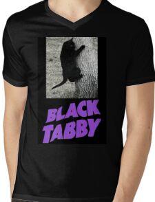 Black Tabby  Mens V-Neck T-Shirt