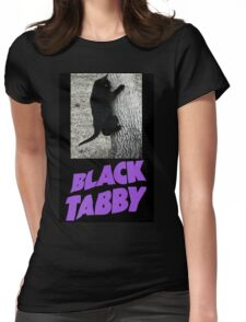 Black Tabby  Womens Fitted T-Shirt