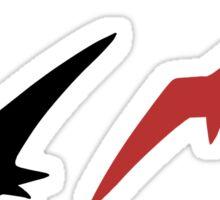 Black Birds, Red bird Sticker