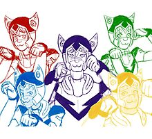 Voltron Kitty Ears Photographic Print