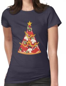 Pizza on Earth - Vegetarian Womens Fitted T-Shirt