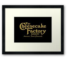 The Cheesecake Factory - Gold Bakery Variant Framed Print