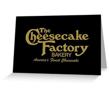The Cheesecake Factory - Gold Bakery Variant Greeting Card