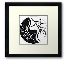Dragon Ying Yang Framed Print