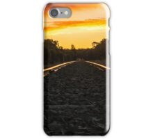 sunset on the tracks iPhone Case/Skin