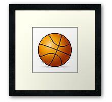 Basketball ball Framed Print