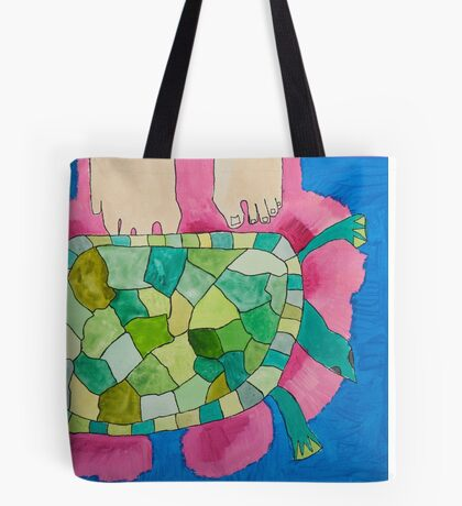 Trevor the Turtle by Mimari Tote Bag