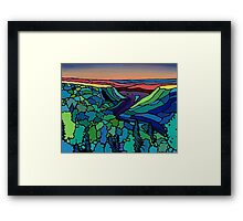 Evening on the Peace Framed Print