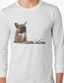 Pug Attempt At Reading A Book Long Sleeve T-Shirt