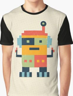 Happy Robot Graphic T-Shirt