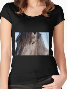 Window to His Soul Women's Fitted Scoop T-Shirt