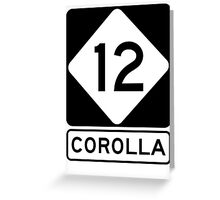 NC 12 - Corolla  Greeting Card