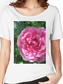 Pink Rose in Shade Women's Relaxed Fit T-Shirt