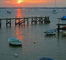 Sunset at Sandbanks by RedHillDigital