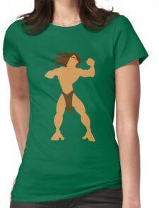 Tarzan Illustration Womens Fitted T-Shirt