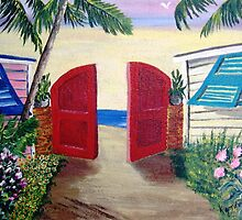 Alley to the Beach by WhiteDove Studio kj gordon