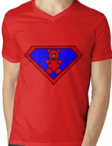 Hero, Heroine, Superhero, Super Teddy Mens V-Neck T-Shirt