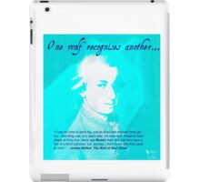 """Mozart and Marie """"One Wolf to Another"""" iPad Case/Skin"""