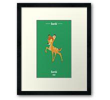 Bambi Illustration Framed Print