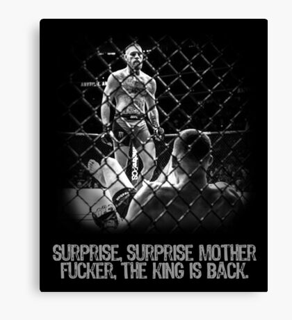 McGregor - Surprise Surprise - UFC202 Canvas Print