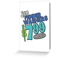 The shopping list - fender washers Greeting Card