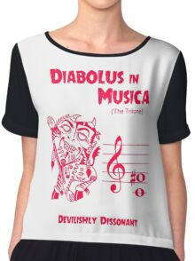 The Devil in Music Chiffon Top