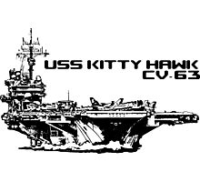 Aircraft carrier Kitty Hawk Photographic Print