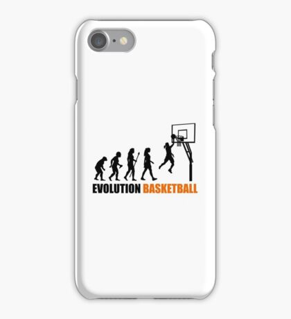 Cool Women's Basetball Evolution Silhouette  iPhone Case/Skin
