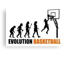 Cool Women's Basetball Evolution Silhouette  Canvas Print
