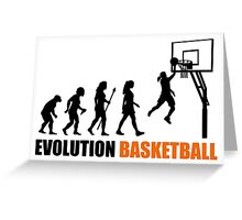 Cool Women's Basetball Evolution Silhouette  Greeting Card