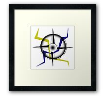 Electric compass Framed Print