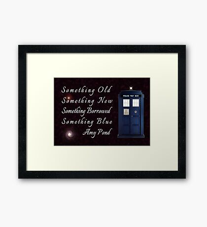Doctor Who - Amy's Wedding Something Blue Framed Print