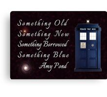 Doctor Who - Amy's Wedding Something Blue Canvas Print