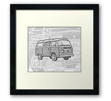 Grey Bay Campervan Dub-U (please see description) Framed Print