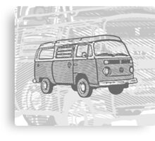 Grey Bay Campervan Dub-U (please see description) Canvas Print