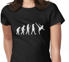 Funny Ballet Evolution Silhouette Womens Fitted T-Shirt