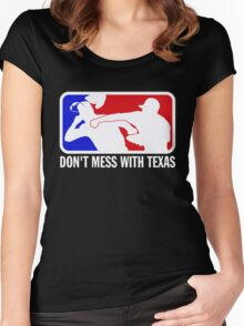 dont make me odor you dont mess with texas Women's Fitted Scoop T-Shirt