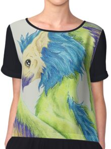 Colorful Gryphon Chiffon Top