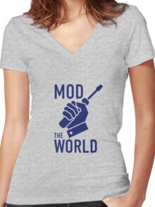 Mod The World Women's Fitted V-Neck T-Shirt