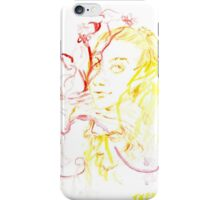yellow faces, red flowers iPhone Case/Skin