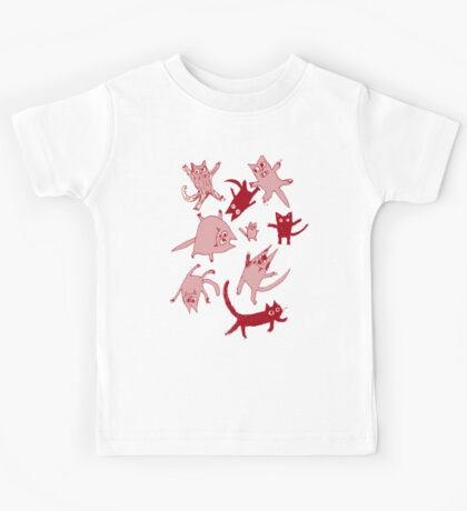 levitating kitties Kids Tee
