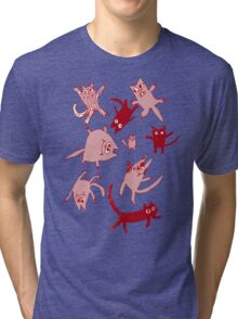 levitating kitties Tri-blend T-Shirt