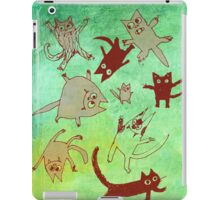 levitating kitties iPad Case/Skin