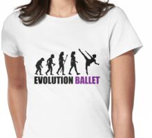 Evolution Of Ballet Womens Fitted T-Shirt
